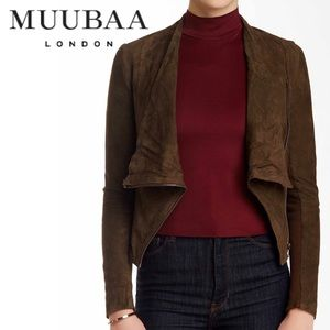 Muubaa Soft Suede Leather Jacket, Size 6 US